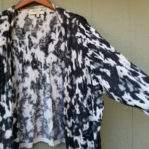 Sejour Watercolor Open Cardigan Wide Sleeve 3x